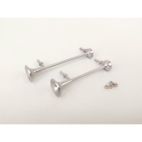 Stainless Steel Air Horns Set V.5 for Tamiya 1/14 Mercedes-Benz Actros 1851 / 3363 / Arocs 3363